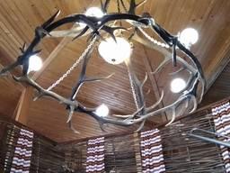 Люстра декоративная, рога оленя