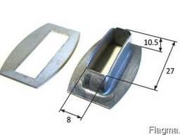 Люверс 27х8 мм крепления тента на прицеп, фуру под скобу