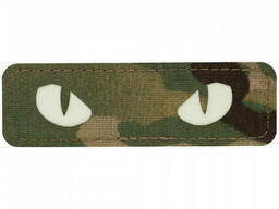 M-Tac нашивка Cat Eyes Laser Cut multicam / светонакопитель