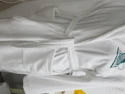 Махровый халат логовышивка