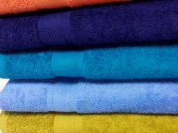 Махровые полотенца 50*90, разноцветные