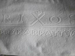 Махровые полотенца с логотипом от проиводителя