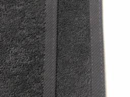 Серые махровые полотенца 50х100