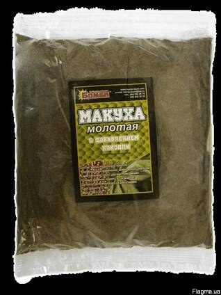 Макуха молотая (жмых) для рыбалки 0,5 кг