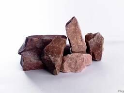 Камень для печки Малиновый кварцит колотый (Карелия)