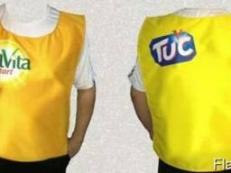 Манишка рекламная, униформа для промоакций