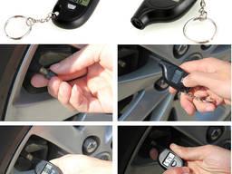 Манометр автомобильный цифровой измеритель давления шин брелок электронный