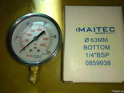 Манометр глицериновый, 250 кг, 63мм, радиальный