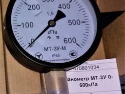 Манометр МТ-3У 0-600кПа