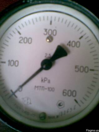 Манометр МТП-100, новый, 0-600 кРа, градуировка 2,5.
