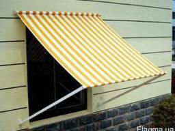 Маркиза окно, балкон 2м х 2м. 2,5м х 2м с падающим локотем