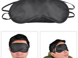 Маска для сна наглазная черная повязка очки для сна отдыха