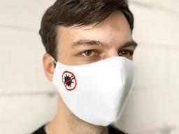 Маска защитная «Stop virus» белая
