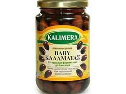 Маслины с косточкой Каламата MiNi Kalimera / Калимера,370 мл