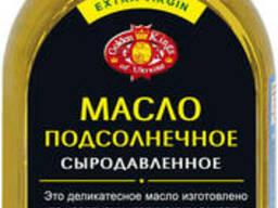 Масло подсолнечное сыродавленное не рафинированное