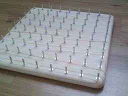 Математичний планшет, геоборд 9*9, розмір 30*30 см, розвиваю