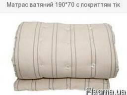 Матрас ватяний 190*70 с покриттям тік