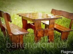 Мебель деревянная сосновая и дубовая для дома и сада