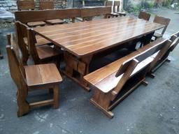 Стол и лавки, мебель для беседки