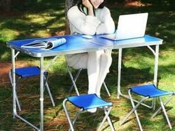 Мебель для пикника Welfull-FTS1-4, столик 4 стула синий