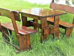 Мебель из дерева для дачи, дома, комплект большой деревянный