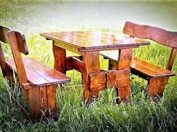 Мебель из натурального дерева для кафе, комплект. ..
