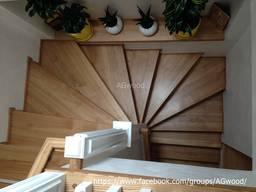 Лестницы из натурального дерева (массива) ясень, дуб