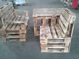 Мебель из поддонов, уличная мебель, стол, лавка.