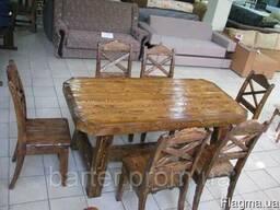 Мебель в беседку из массива состаренного дерева