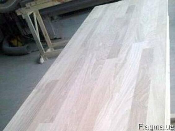 Мебельный щит дуб цельноламельный 20х1220х2000-2700, сорт АВ