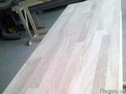Мебельный щит дуб цельноламельный 20х1220х900-1800, сорт АВ