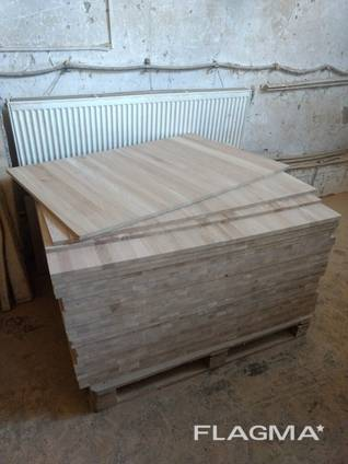 Мебельный щит дубовый цельноламельный