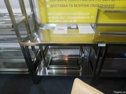 Столи виробничі з нержавіючої сталі для кухні кафе ресторану