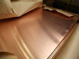 Лист медный М1 размером 1,2х600х1500 мм мягкая