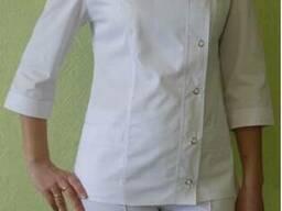 Медицинский костюм Мимоза, белый