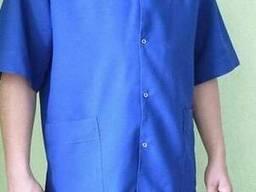 """Медицинский костюм мужской """"Бриз"""" синего цвета, тк. Габардин"""