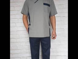 Медицинский костюм мужской. Ткань батист.