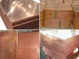 Медный лист М1 (3,0х1500х600 мм)