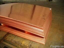 Лист медный М1 размером 1, 2х600х1500 мм мягкая