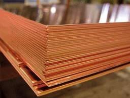 Медный лист, трубы М1, М2 толщ. 0.3-60мм, 0,6х1,5м, 1х2м