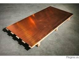 Медный лист 40мм 600х1500мм М1 М2 недорого все размеры
