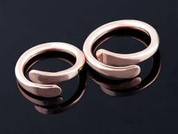 Медные кольца ручной работы (медь 99.9 %)