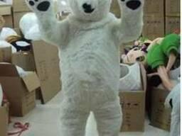 Медведь белый, Ростовая кукла. Одежда для промо акций