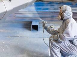 Ремонт цехов складов. Безвоздушная покраска побелка стен. Механизированная Шпаклевка