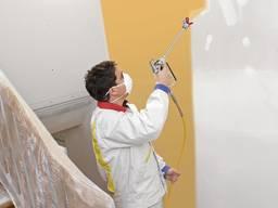 Шпаклевка Покраска Побелка стен Поклейка обоев квартир офис