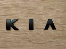Металлические буквы KIA , киа на кузов авто
