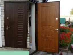 Металлические двери с МДФ накладками