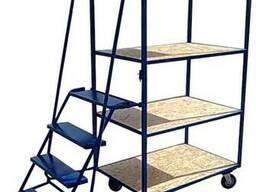 Металлические лестницы (платформенные) для склада