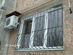 Металлические решетки на окна - фото 1
