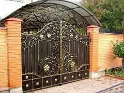 Металлические ворота - гаражные, распашные, кованые,откатные
